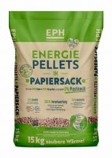 EPH-Holzpellets 15kg-Papiersack 65x15kg Palette
