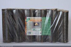 Holzbriketts XXL rund, dunkel ohne Loch, 96x10kg Palette